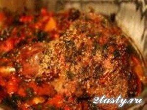 Рецепт Баранина с овощами запеченная в рукаве (фото)