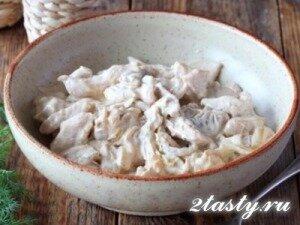Рецепт Бефстроганов из курицы (фото)