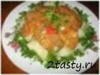 Рецепт Холодное отварное мясо с грибами и огурцами (фото)