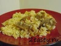 Рецепт Отварная телятина с рисом (фото)