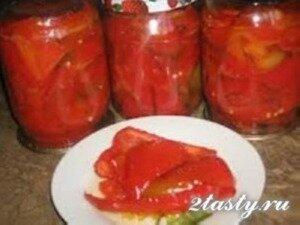 Рецепт Болгарский перец на зиму маринованный с медом (фото)
