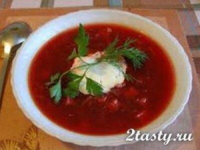Рецепт Борщ вегетарианский (фото)