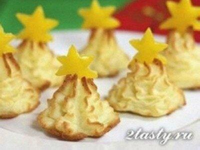 Рецепт Новогодние елочки из картофеля (фото)