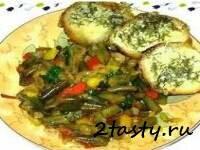 Рецепт Рагу из фасоли с помидорами и яйцами (фото)