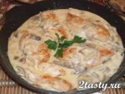 Рецепт Говядина с грибами и картофелем фри (фото)