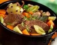 Рецепт Отварная говядина с овощами (фото)