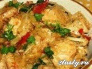 Рецепт Гуляш из индейки с квашеной капустой (фото)