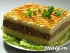 Фото: Запеканка из картошки с фаршем и сыром