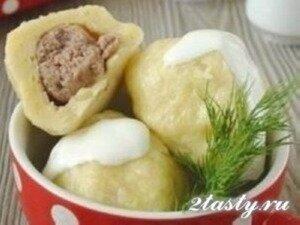 Фото: Картофельные клёцки с мясом