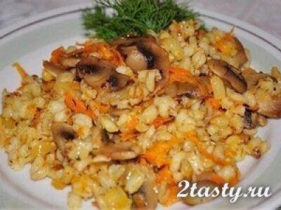Рецепт Перловая каша с грибами (фото)