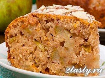 Рецепт Постный кекс с грушами (медовый) (фото)