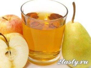 Рецепт Компот из свежих яблок и груш (фото)