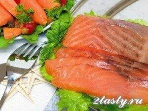 Фото: Красная рыба под винным соусом