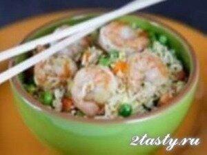 Рецепт Креветки с рисом и яйцом (фото)