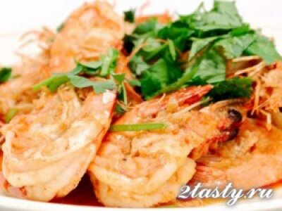 Рецепт Креветки в чесночном соусе (фото)