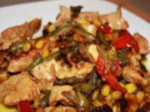 Рецепт Курица с кукурузой и перцем по-мексикански (фото)
