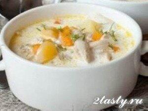 Рецепт Густой куриный суп с репой и сливками (фото)