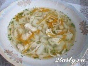 Рецепт Суп из курицы с домашней лапшой (фото)