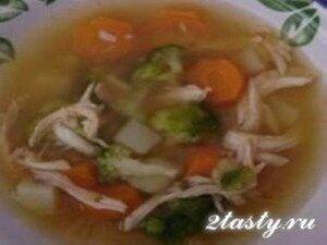 Фото: Суп куриный с рисом и овощами