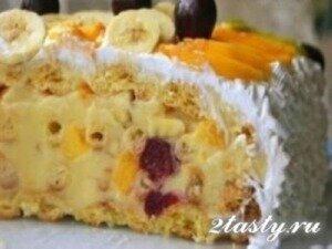 Рецепт Торт с фруктами «Тропиканка» (фото)