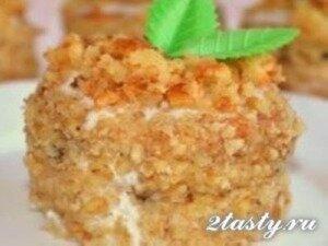 Рецепт Медовые пирожные «Пчелка» (фото)