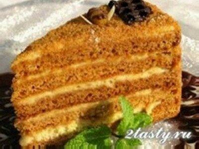 Торт медовик со сгущенкой рецепт с