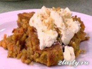 Рецепт Морковный пирог с орехами и сырным кремом (фото)