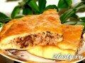 Фото Постный пирог с гречкой и семгой