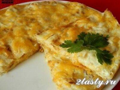 Рецепт Пирог из лаваша с сыром (фото)