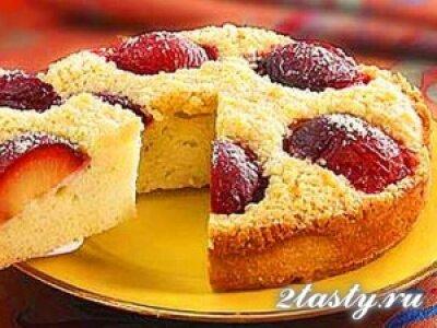 Рецепт Простой сливовый пирог (фото)