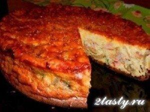 Рецепт Пирог-сметанник с курицей и грибами (фото)