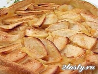 Рецепт Пирог с яблоками плиткой (фото)