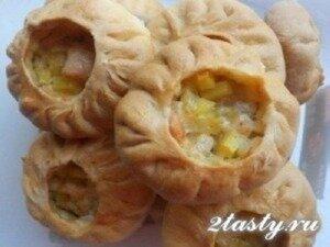 Рецепт Пирожки татарские с мясом и картошкой (фото)