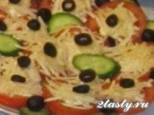 Рецепт Помидоры с маслинами и козьим сыром (фото)