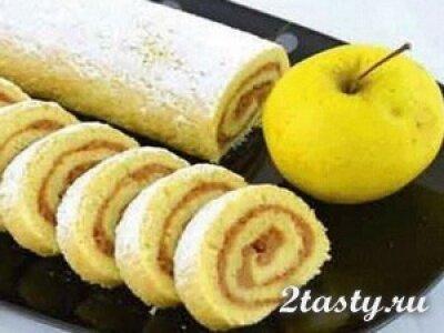 Рецепт Рулет с яблоками (фото)