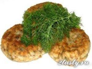 Рецепт Рыбные биточки из трески с сыром (фото)