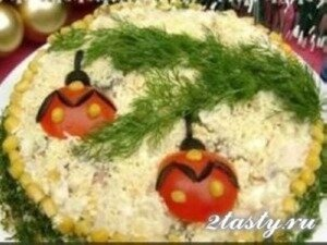 Рецепт Новогодний салат (фото)