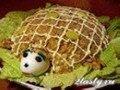 Фото Вкусненький салат с курицей «Черепаха»
