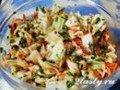 Корейский салат из капусты с жаренным луком