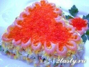 Рецепт Салат «с любовью» и морепродуктами (фото)