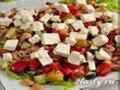 Салат из фасоли с тунцом и оливками