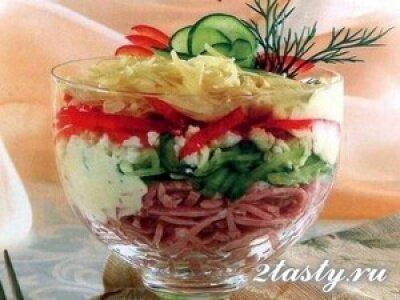 Фото: Салат с ветчиной и сыром