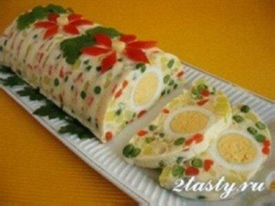 Рецепт Салат-желе к празднику (фото)