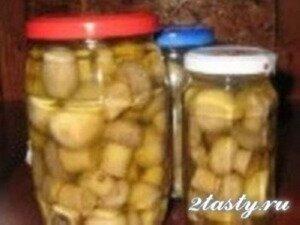 Рецепт Шампиньоны маринованные в винном уксусе (фото)
