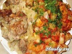 Рецепт Шашлык запеченный в духовке в рукаве (фото)