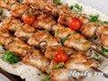 Фото Куриные шашлыки жаренные на сковороде