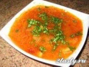 Рецепт Постные щи из капусты с болгарским перцем (фото)