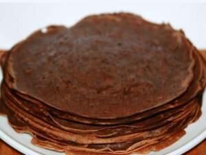 Фото: Шоколадные (на основе какао) блины с шоколадным кремом