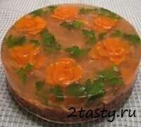 Рецепт Студень из свинины с овощами (фото)