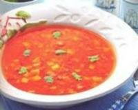 Рецепт Грибной суп с фасолью и морожеными овощами (фото)